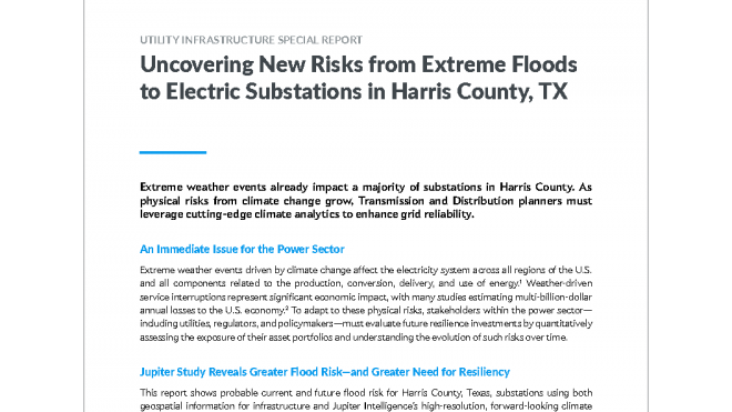 Uncovering New Risks from Extreme Floods to Electric Substations in Harris County, TX