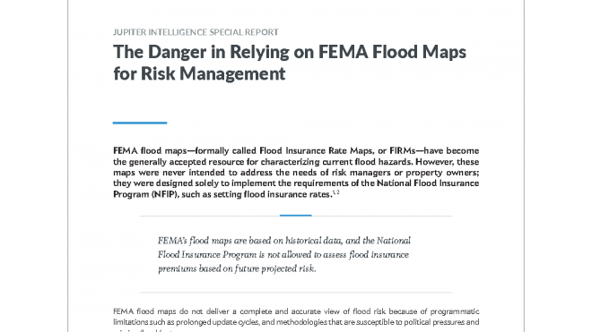The Danger in Relying on FEMA Flood Maps for Risk Management