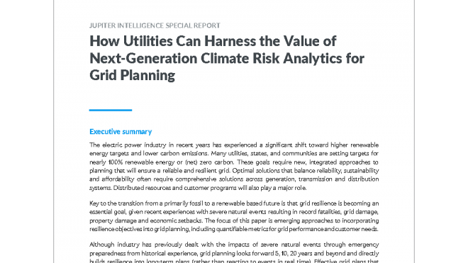 Physical Climate Risks Present Significant Risk for Utility Grid Infrastructure