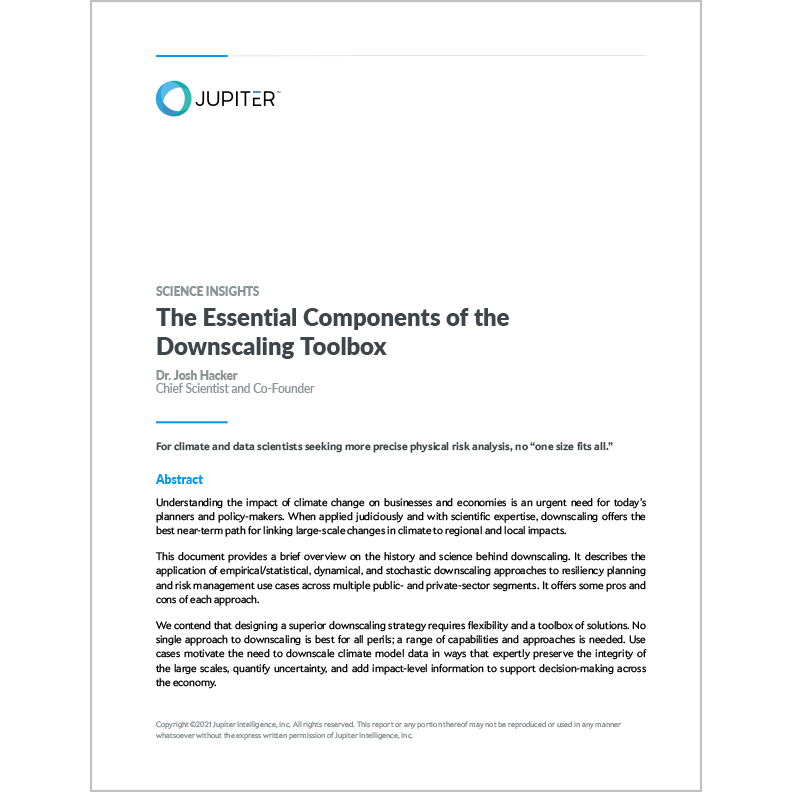 The Essential Components of the Downscaling Toolbox